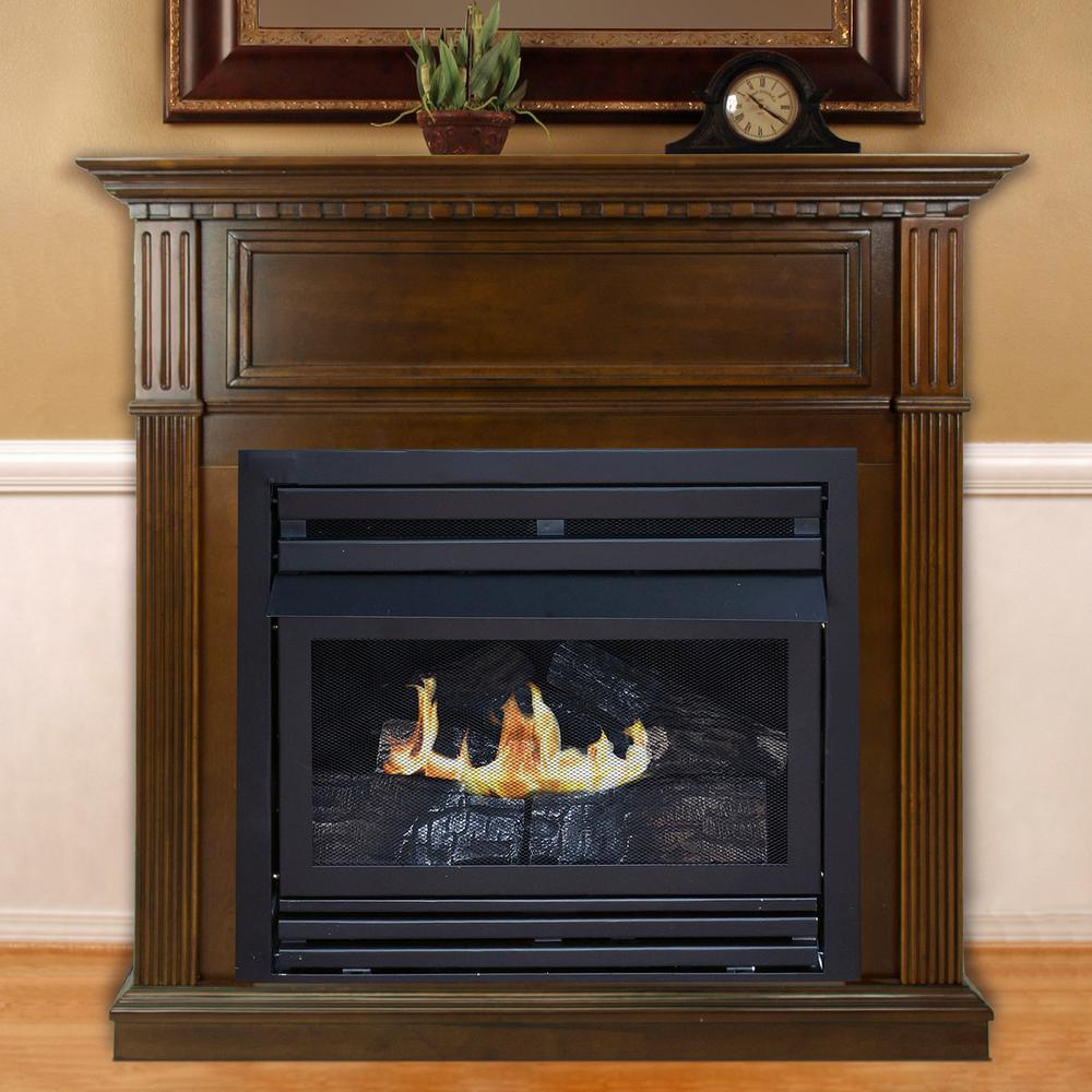 Pleasant Hearth 42 in. Intermediate Vent-Free Gas Fireplace in ...