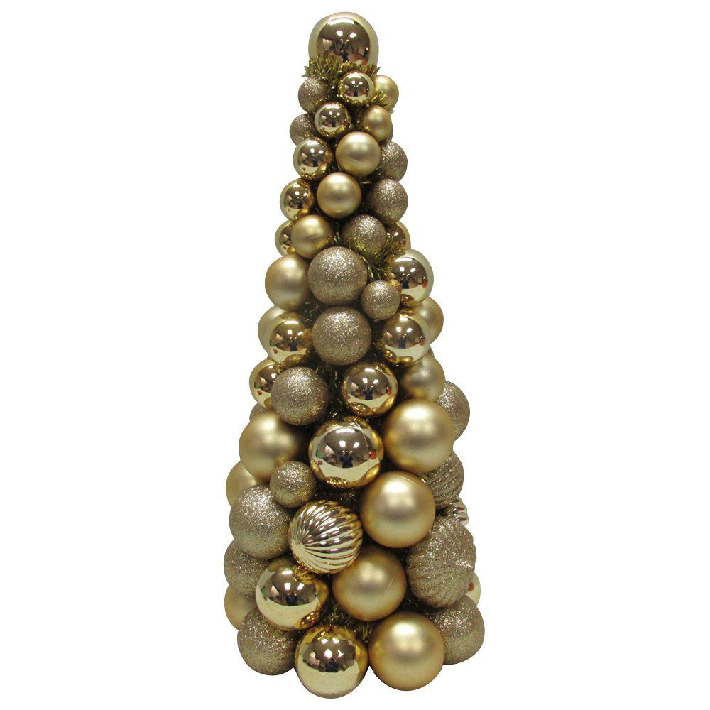 Home Accents Holiday 18 in. Gold Shatter-Proof Christmas Ornament Core