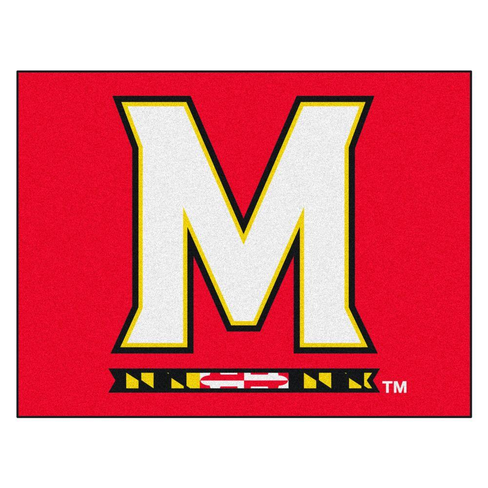 NCAA University of Maryland Red 2 ft. 10 in. x 3