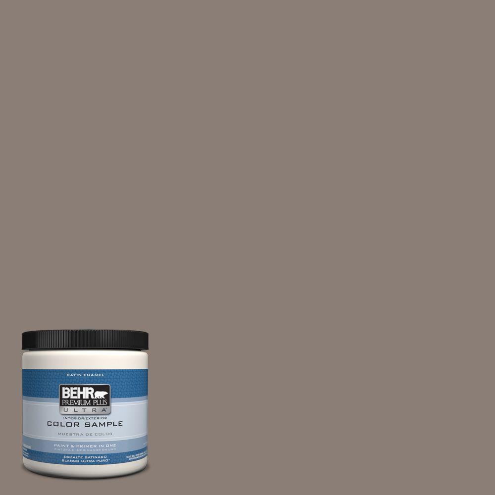 BEHR Premium Plus Ultra 8 oz. #hdc-NT-27B Wild Truffle Interior/Exterior Satin Enamel Paint Sample