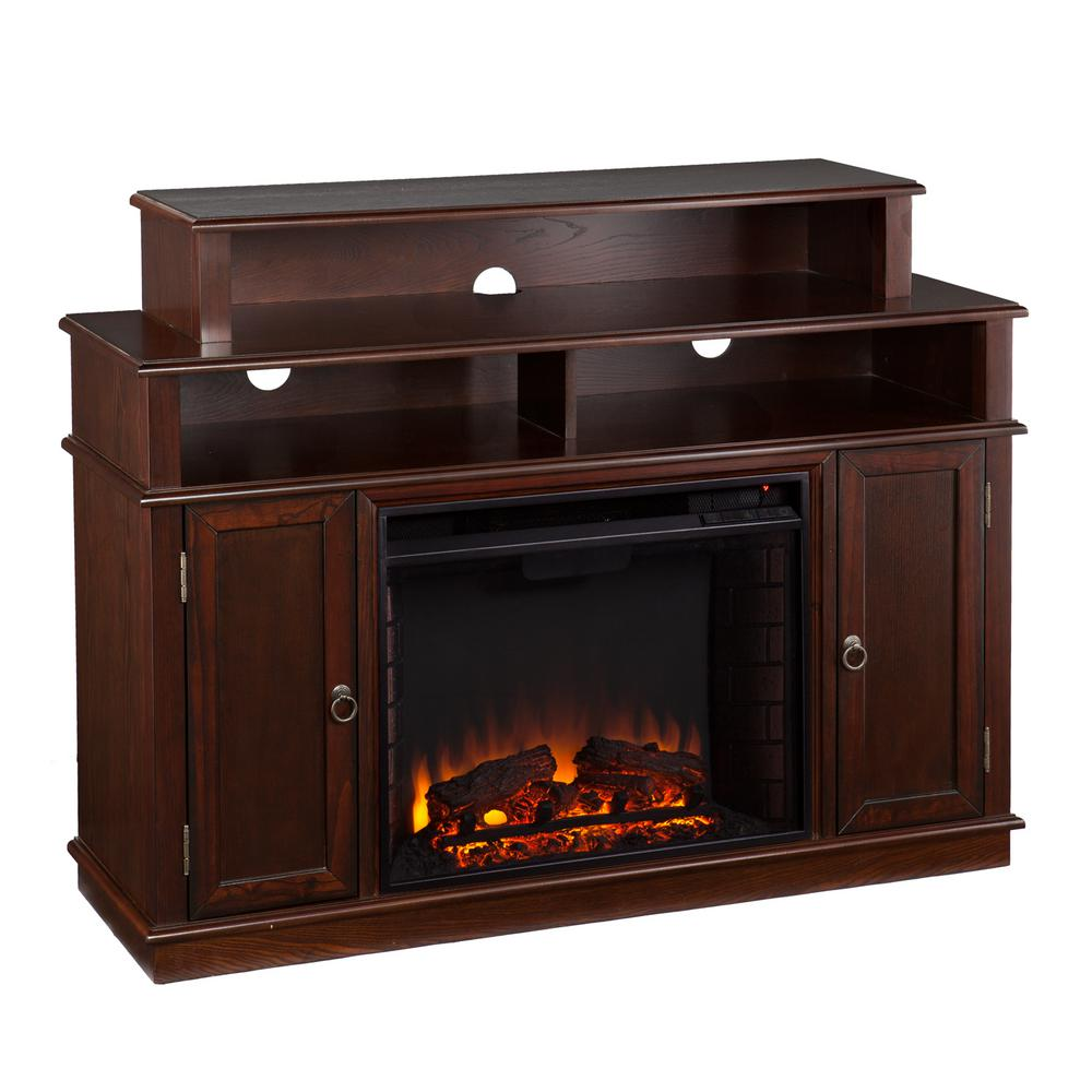 Abington 47.75 in. W Media Stand Electric Fireplace in Espresso