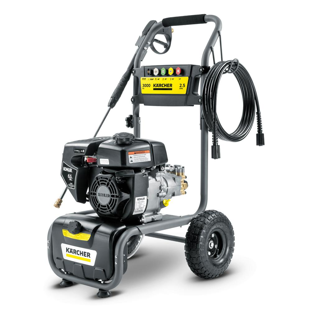 G3000K, 3000 PSI 2.5 GPM Gas Pressure Washer - Powered by