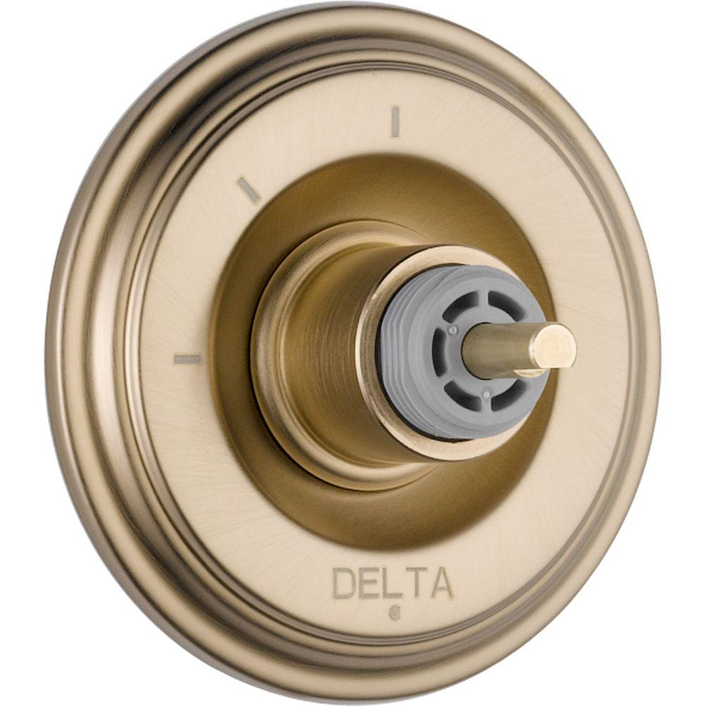 Delta Cassidy 3-Function Diverter Trim Kit Only in Champagne Bronze (Valve and Handle Not Included)