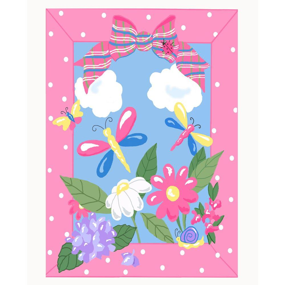 Jade Reynolds Spring Time Multi Colored 39 in. x 58 in.