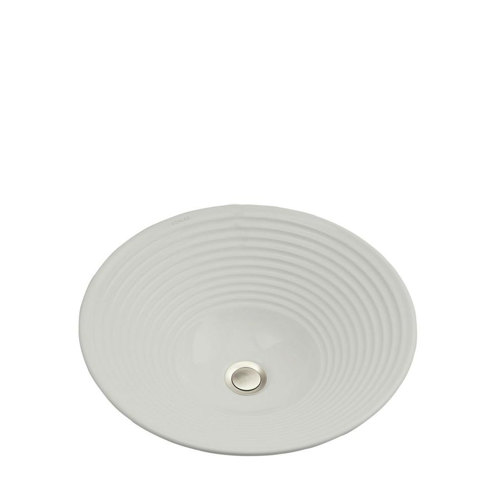 Turnings Vitreous China Vessel Sink in Earthen White