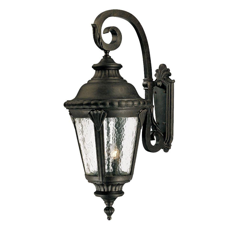 Acclaim Lighting Surrey Collection Wall-Mount 4-Light Outdoor Black Gold Light Fixture-DISCONTINUED