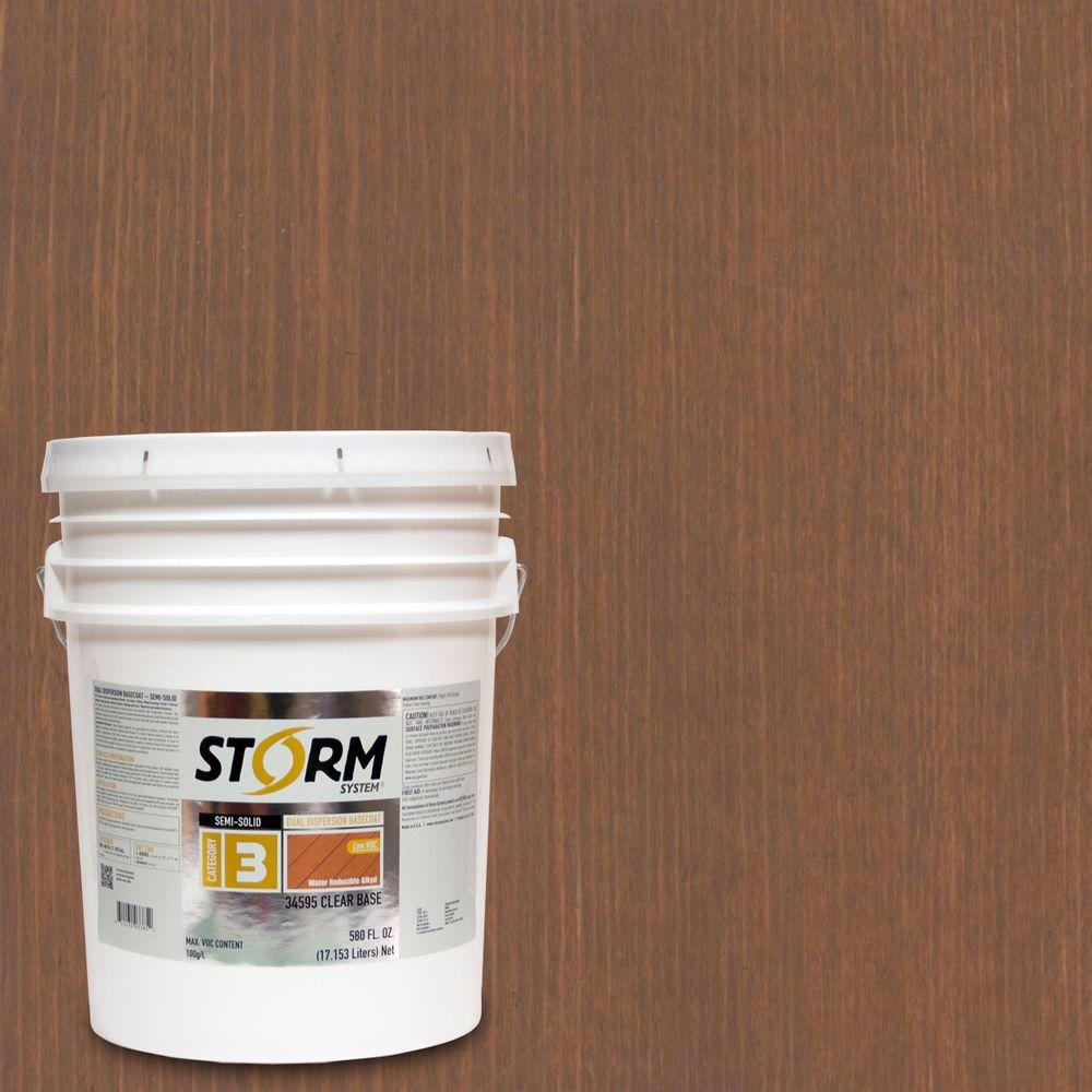 Category 3 5 gal. Butternut Exterior Semi-Solid Dual Dispersion Wood Finish