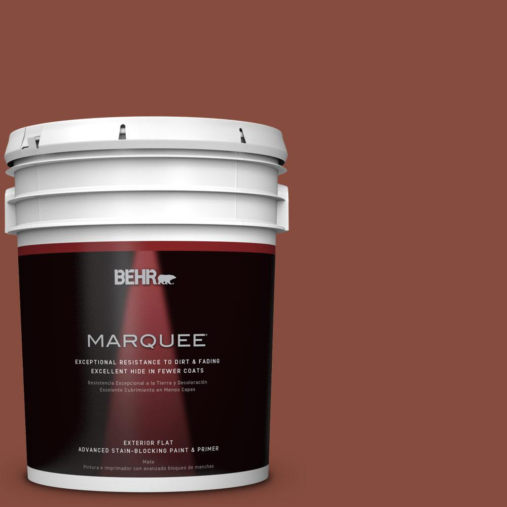 BEHR MARQUEE 5-gal. #QE-14 Spiced Red Flat Exterior Paint-445305 - The