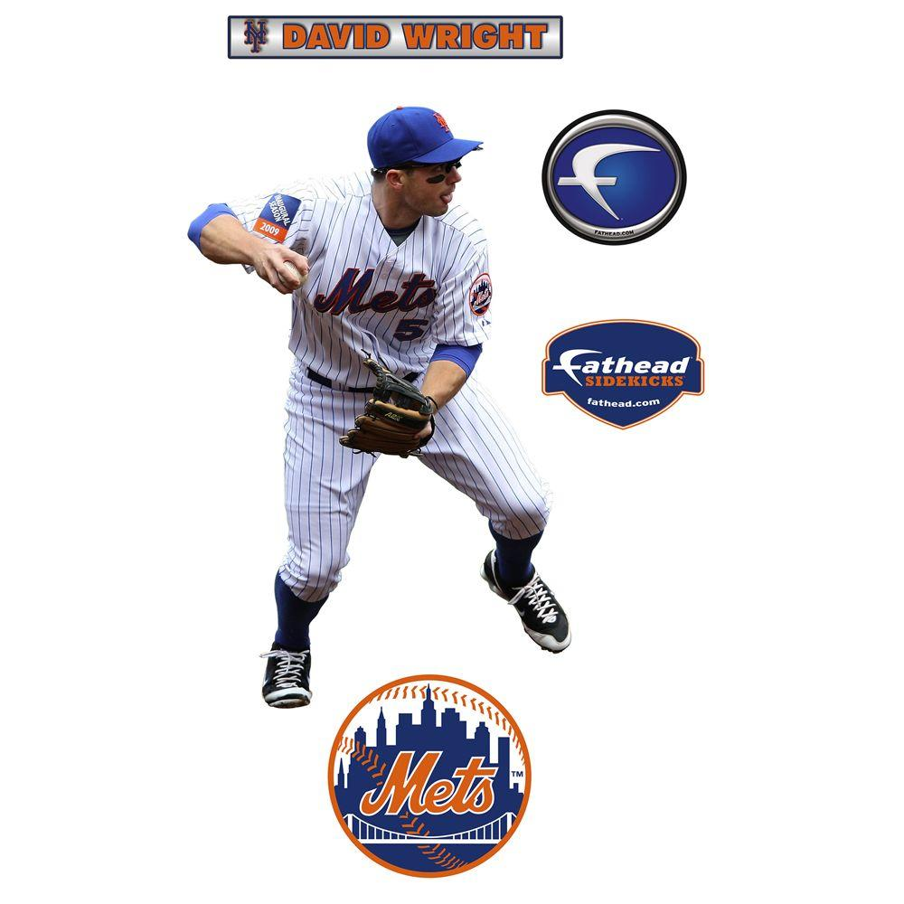 Fathead 22 in. x 34 in. David Wright New York Mets Wall Decal