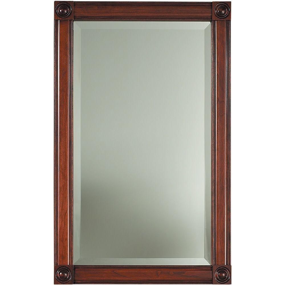 null Soho 17-3/16 in. W x 27-7/16 in. H x 5-1/4 in. D Framed Recessed Bathroom Medicine Cabinet in Cherry