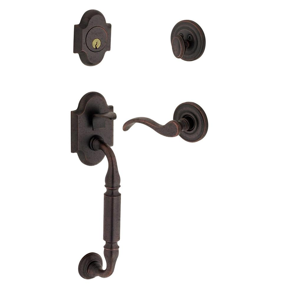 Canterbury Distressed Single Cylinder Oil-Rubbed Bronze Right-Handed Handleset