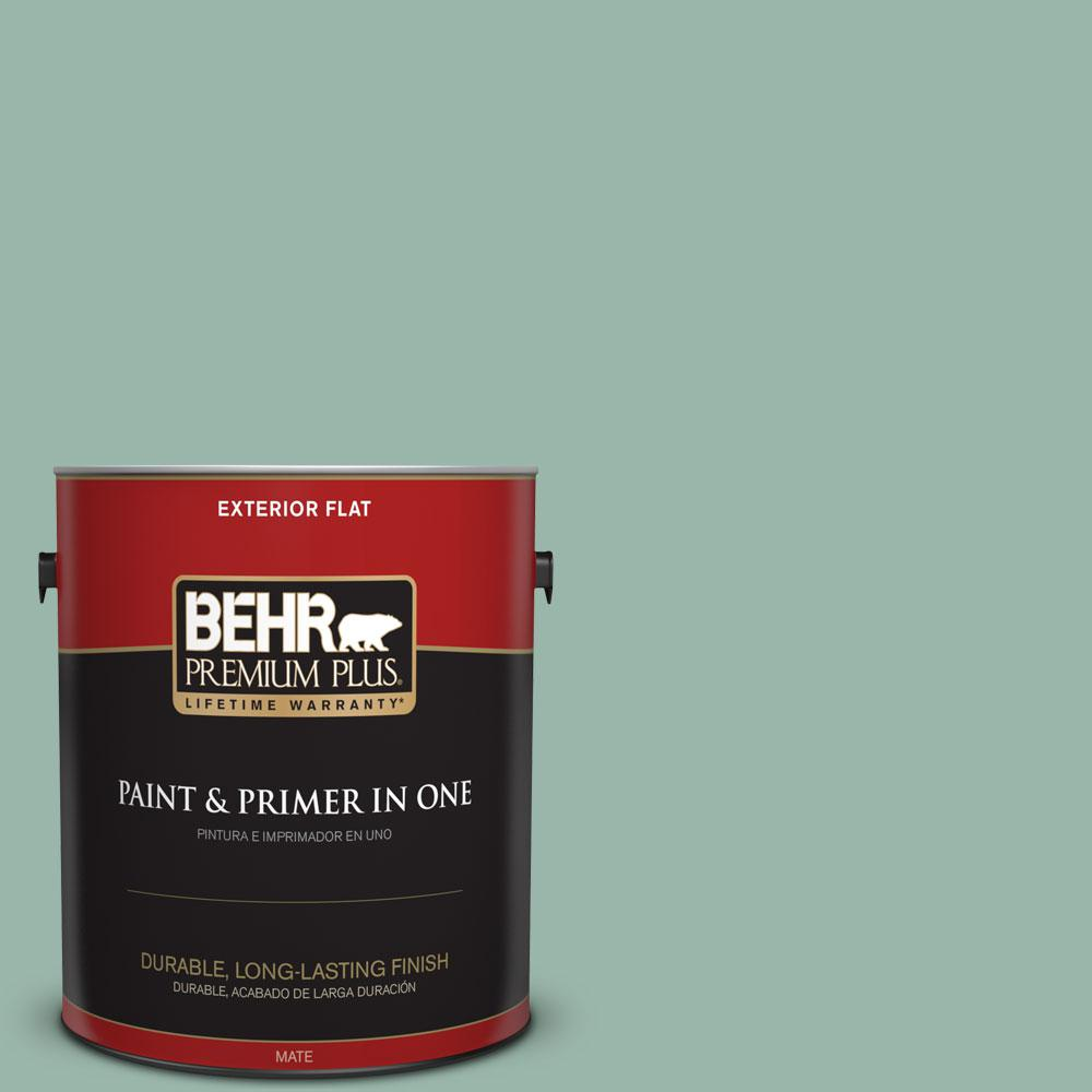 1-gal. #S420-3 Nile River Flat Exterior Paint