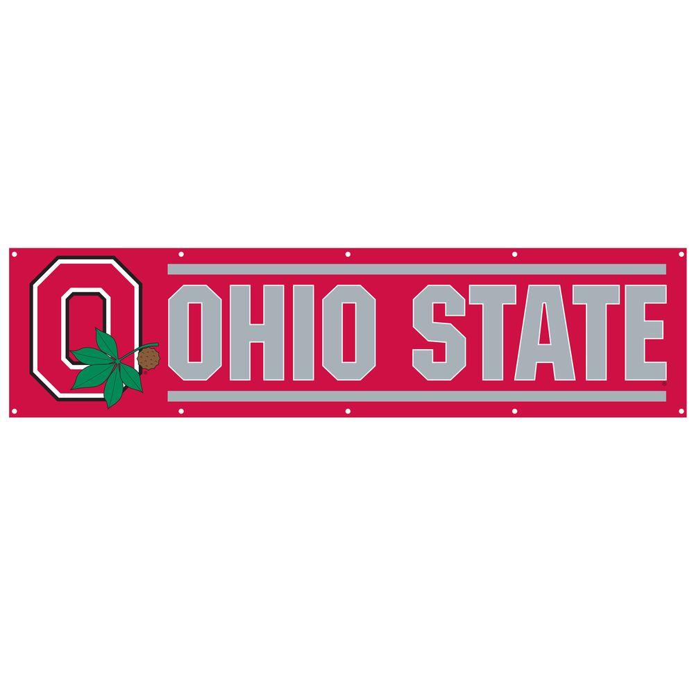 Party Animal 8 ft. x 2 ft. NCAA License Ohio State Team Banner-DISCONTINUED