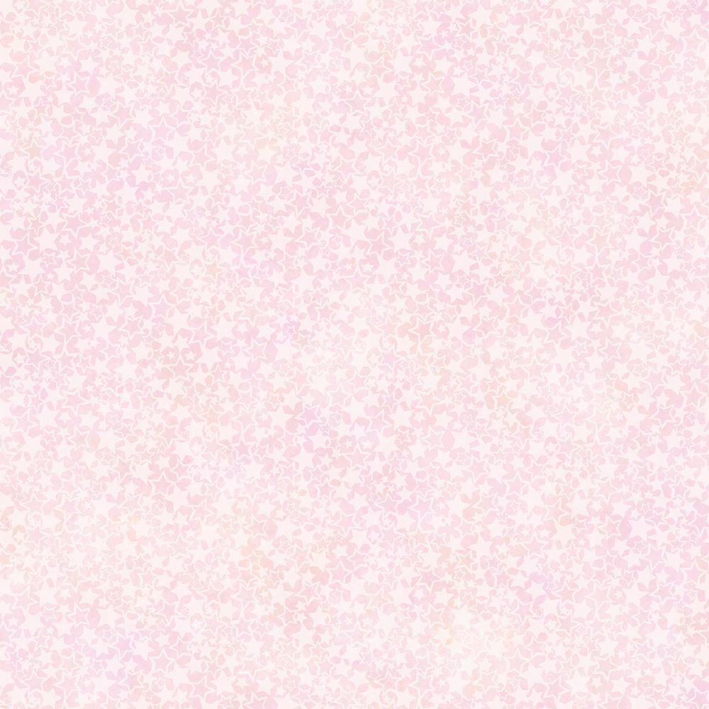 8 in. x 10 in. Starry Night Pink Celestial Busy Toss Wallpaper Sample