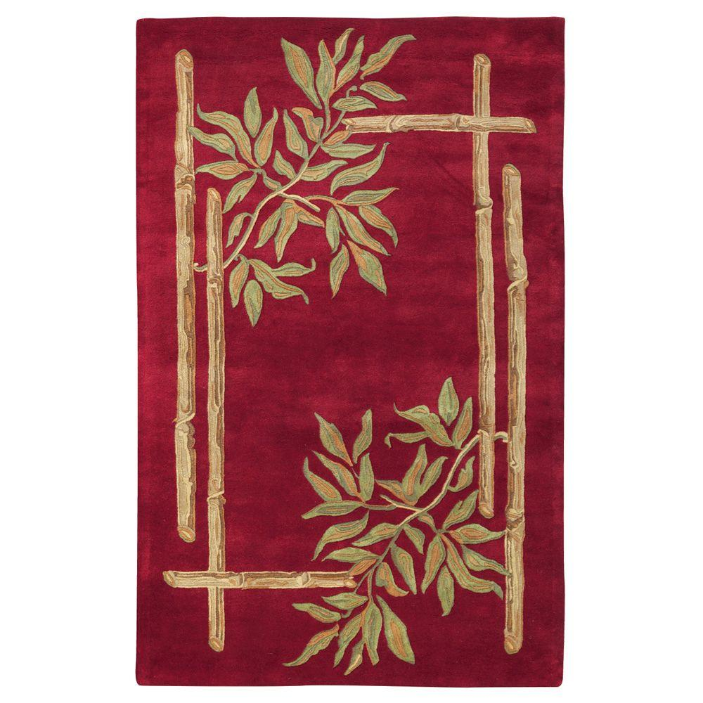 Home Decorators Collection Bamboo Red 9 ft. 9 in. x 13 ft. 9 in. Area Rug