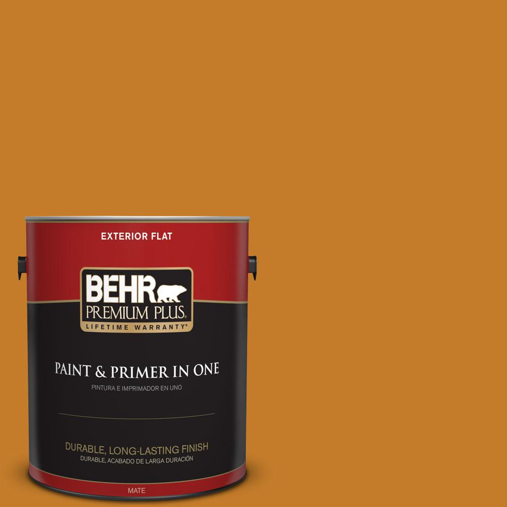 1-gal. #S-H-290 Exotic Honey Flat Exterior Paint