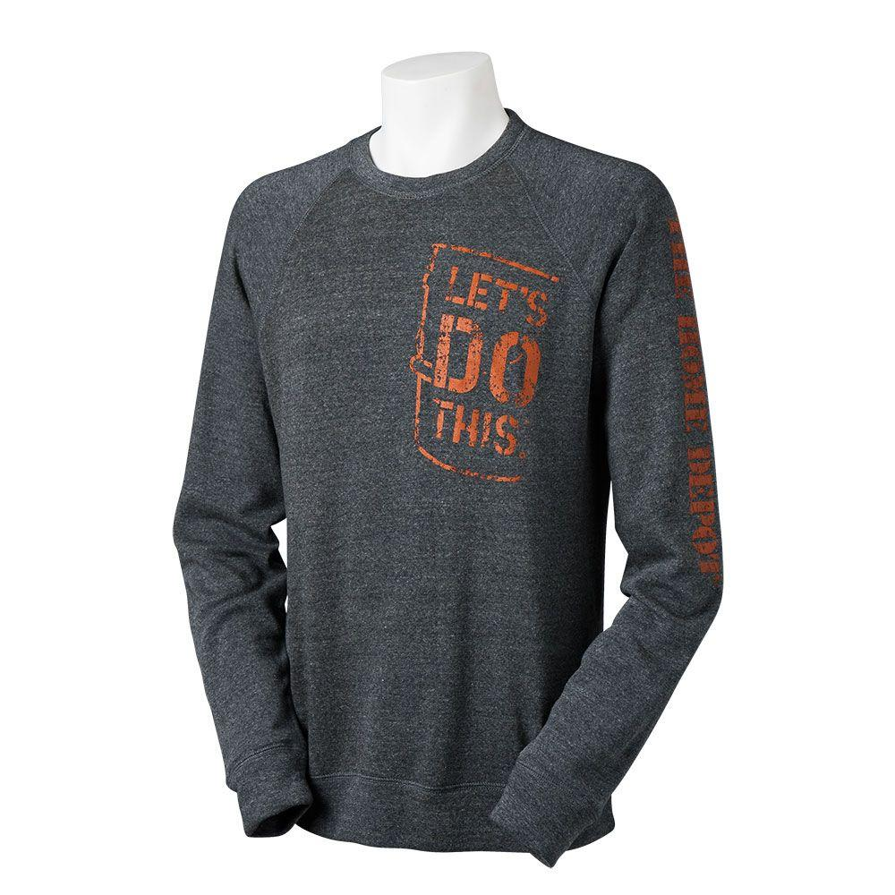 The Home Depot Grey 3XL Let's Do This Crewneck Sweatshirt-1301636-06 -