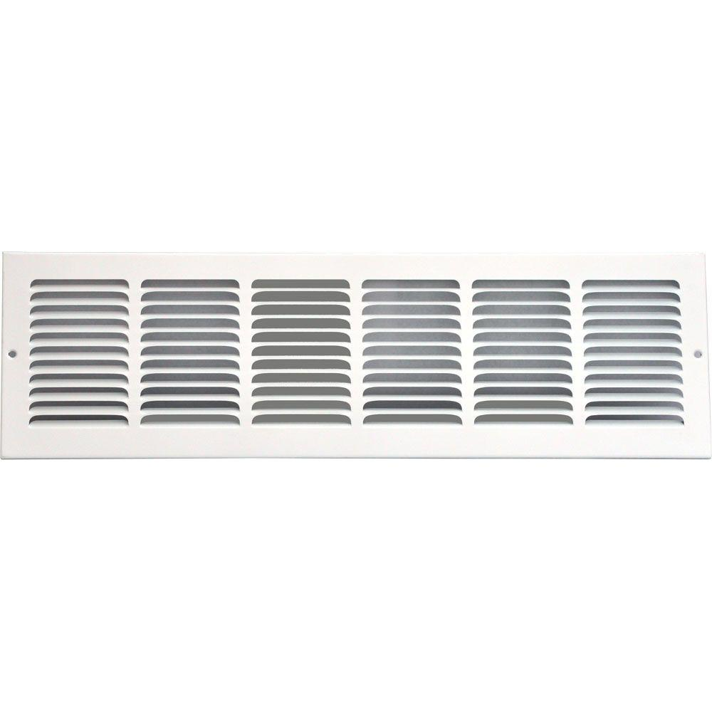 SPEEDI-GRILLE 24 in. x 6 in. Return Air Vent Grille, White with Fixed Blades