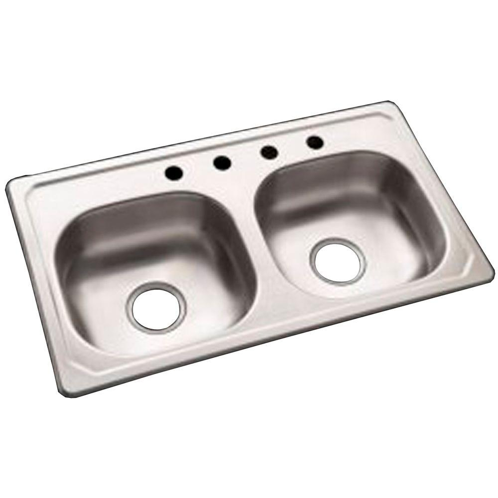 null Sterling Self-Rimming Double-Basin Specialty Sink in Stainless Steel-DISCONTINUED