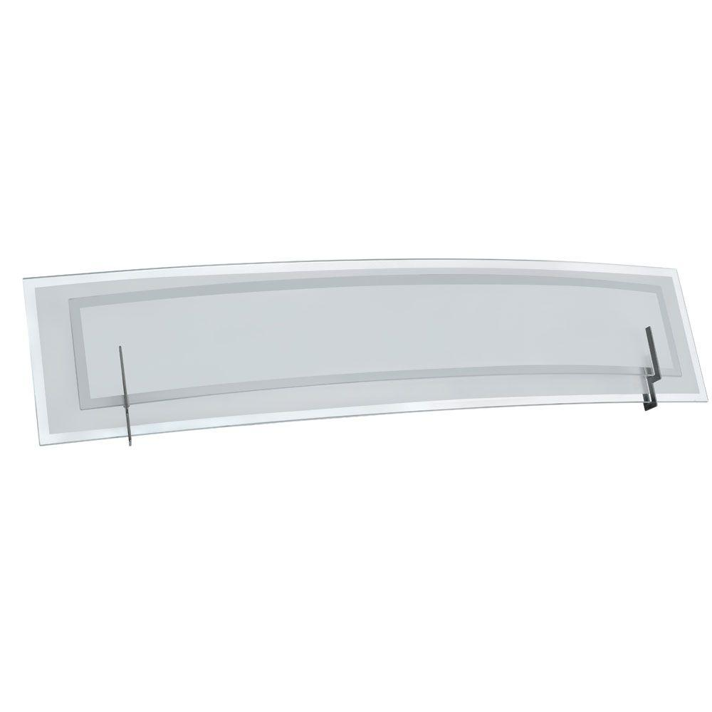 Nella 3-Light Satin Chrome Vanity Light with Clear Frosted Glass and