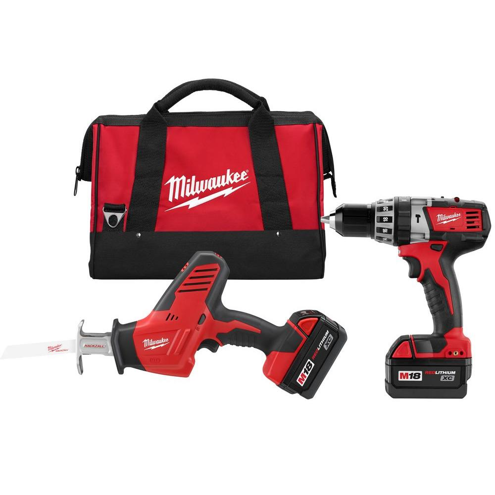 Milwaukee M18 18-Volt Lithium-Ion Cordless Hammer Drill/Hackzall Combo Kit