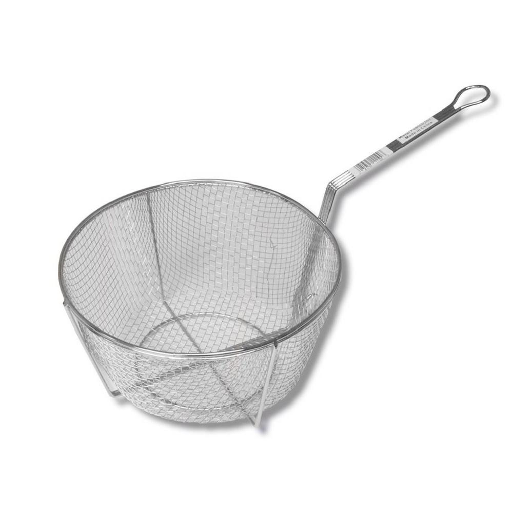 11 in. Nickel Plated Straining Basket