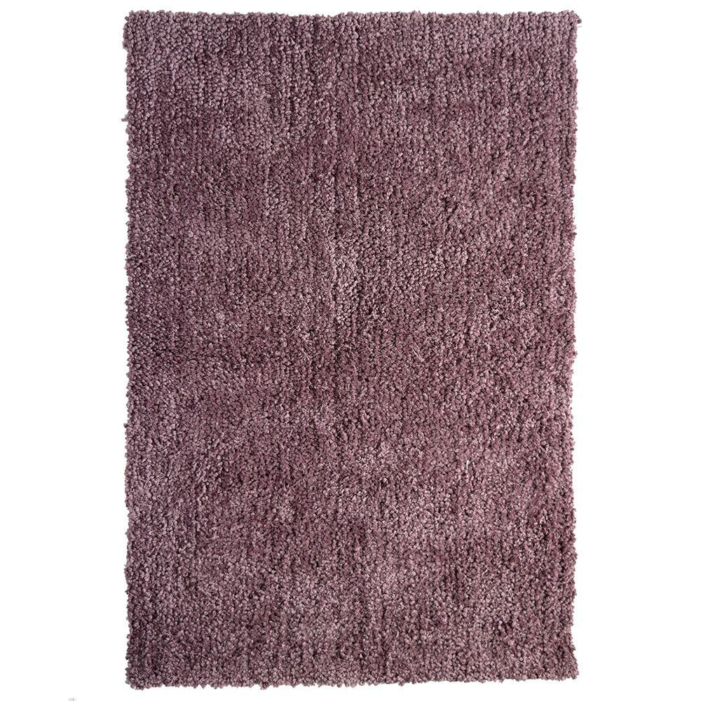Contemporary Indoor/Outdoor Area Rug: Lanart Rugs Palazzo Shag Plum 9 ft. x 12 ft. ROPE912PL