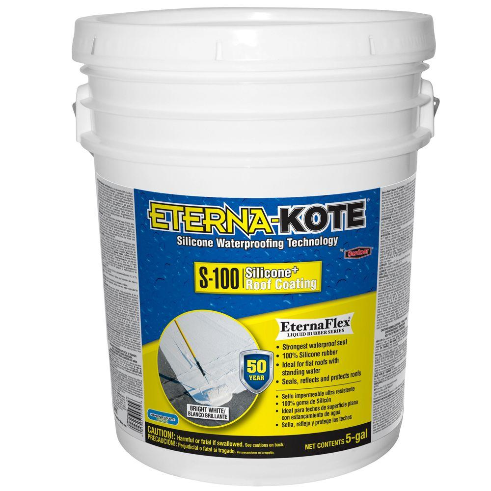 5 Gal. Eterna-Kote S-100 Silicone+ Roof Coating (18-Pallet)