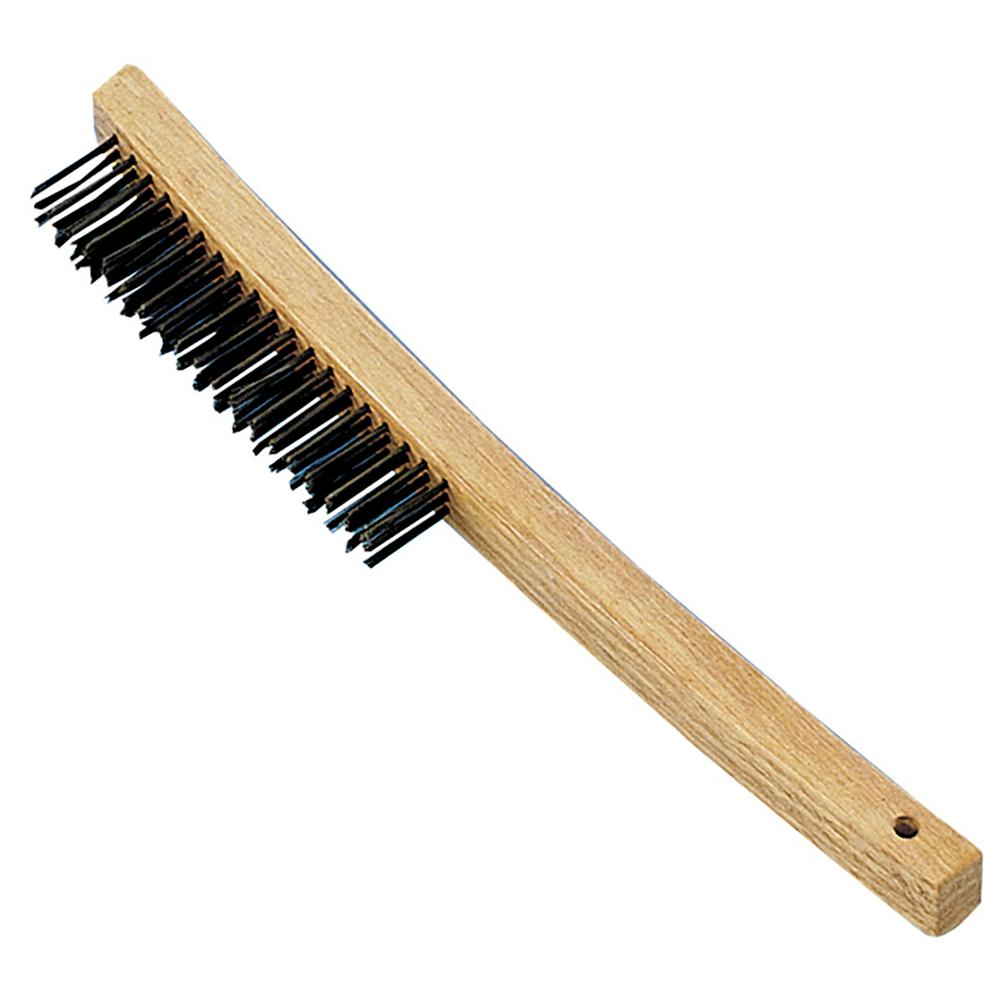 3 x 19 Rows Bent Handle Wire Brush (12-Pack)