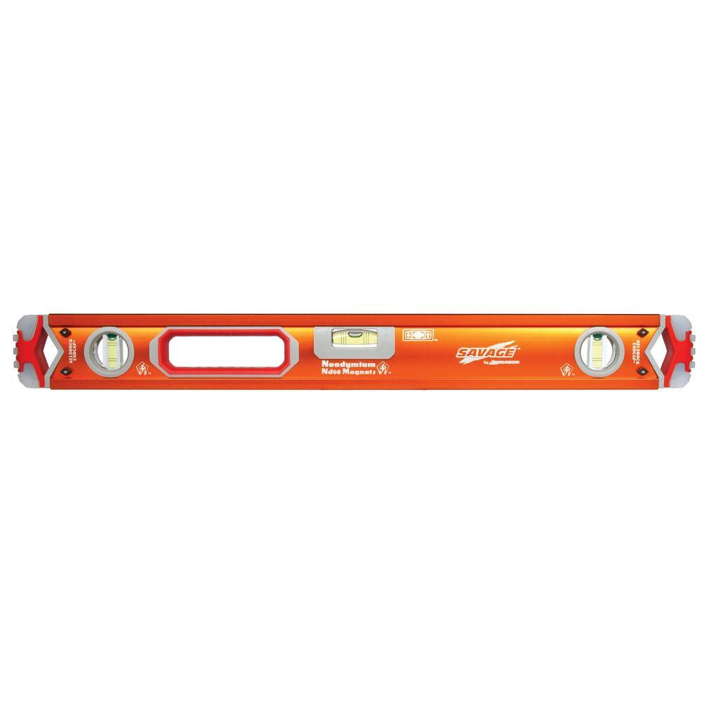 Savage 97 in. Magnetic Professional Box Beam Level with Gelshock End Caps