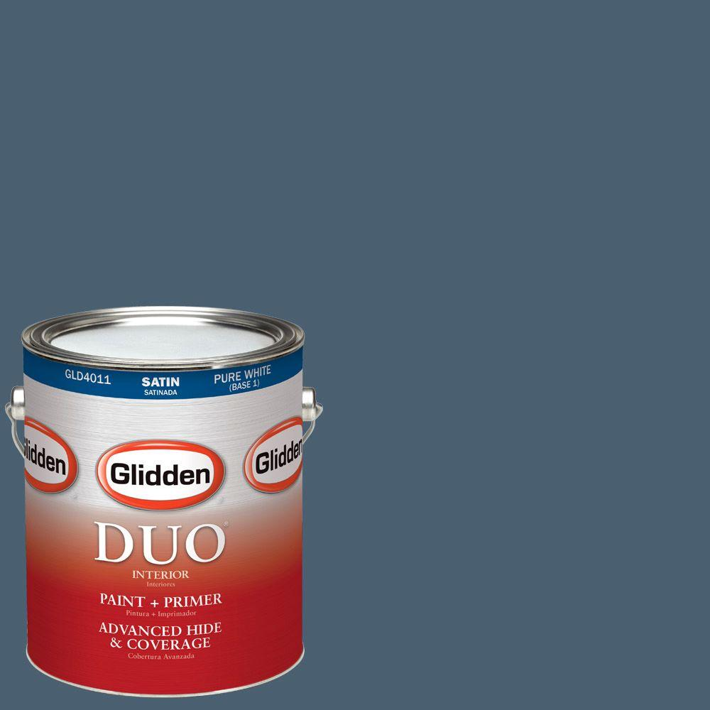 Glidden DUO 1-gal. #HDGR26U Raspberry Kiss Satin Latex Interior Paint with Primer