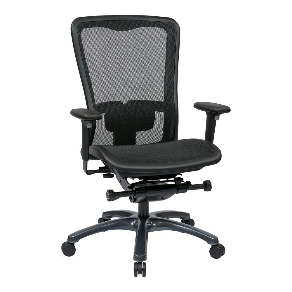 Pro-Line II ProGrid Seat and Back Office Chair in Black-93720 -