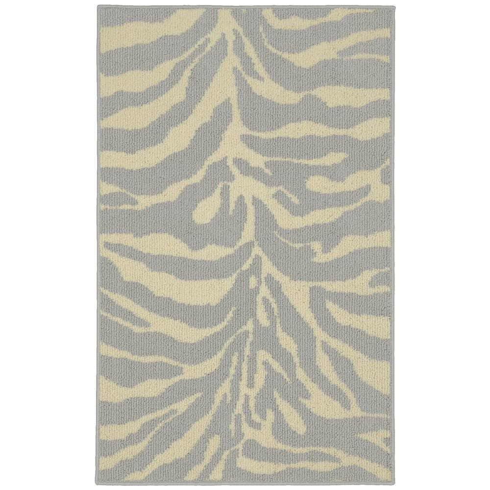 Safari Silver/Ivory 2 ft. 6 in. x 3ft. 10 in. Accent