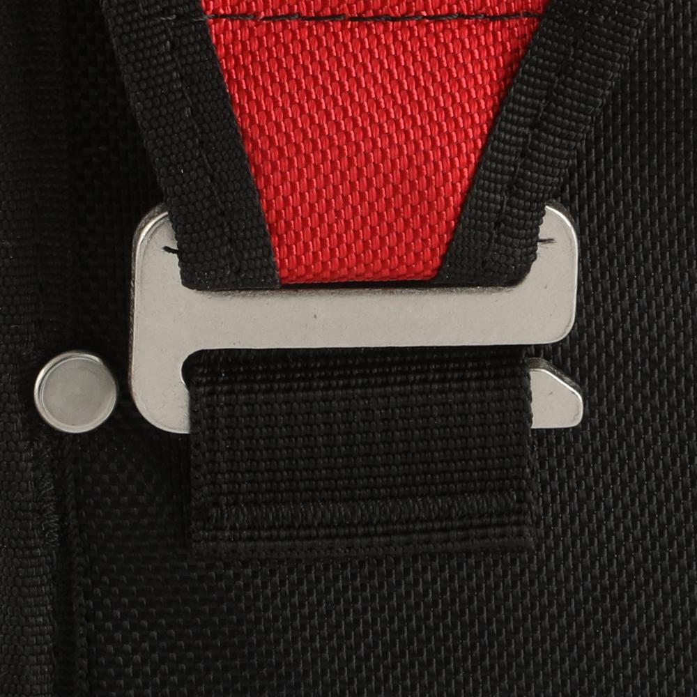 Utility pouch featuring a belt loop attachment.