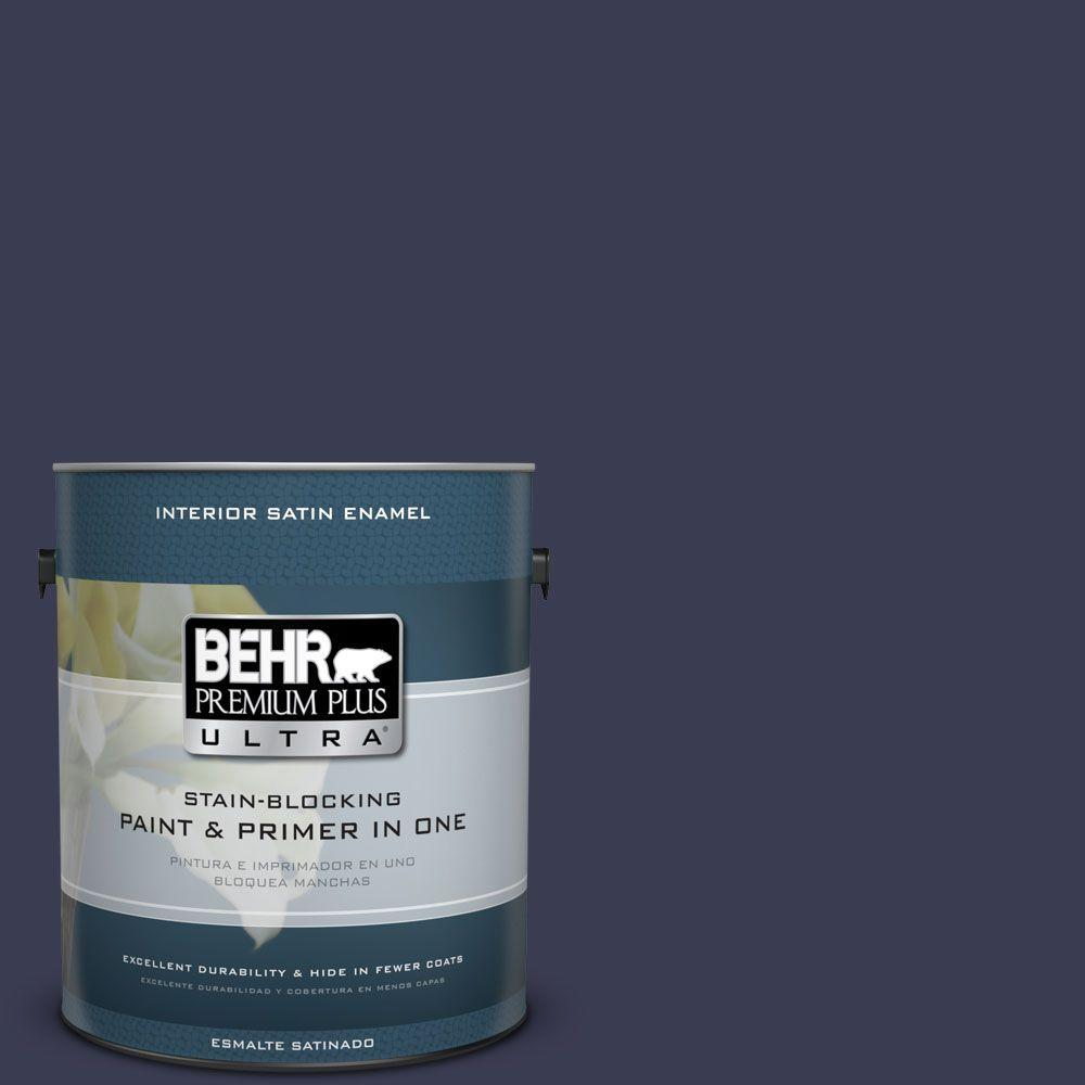 1 gal. #HDC-WR16-03 Blueberry Tart Satin Enamel Interior Paint