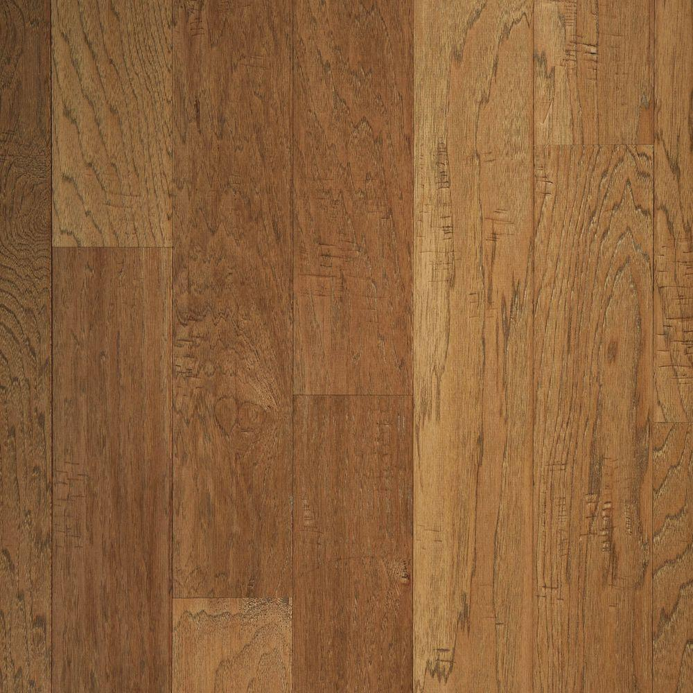 Mohawk Take Home Sample - Hickory Chestnut Scrape Click Hardwood Flooring - 5 in. x 7 in.