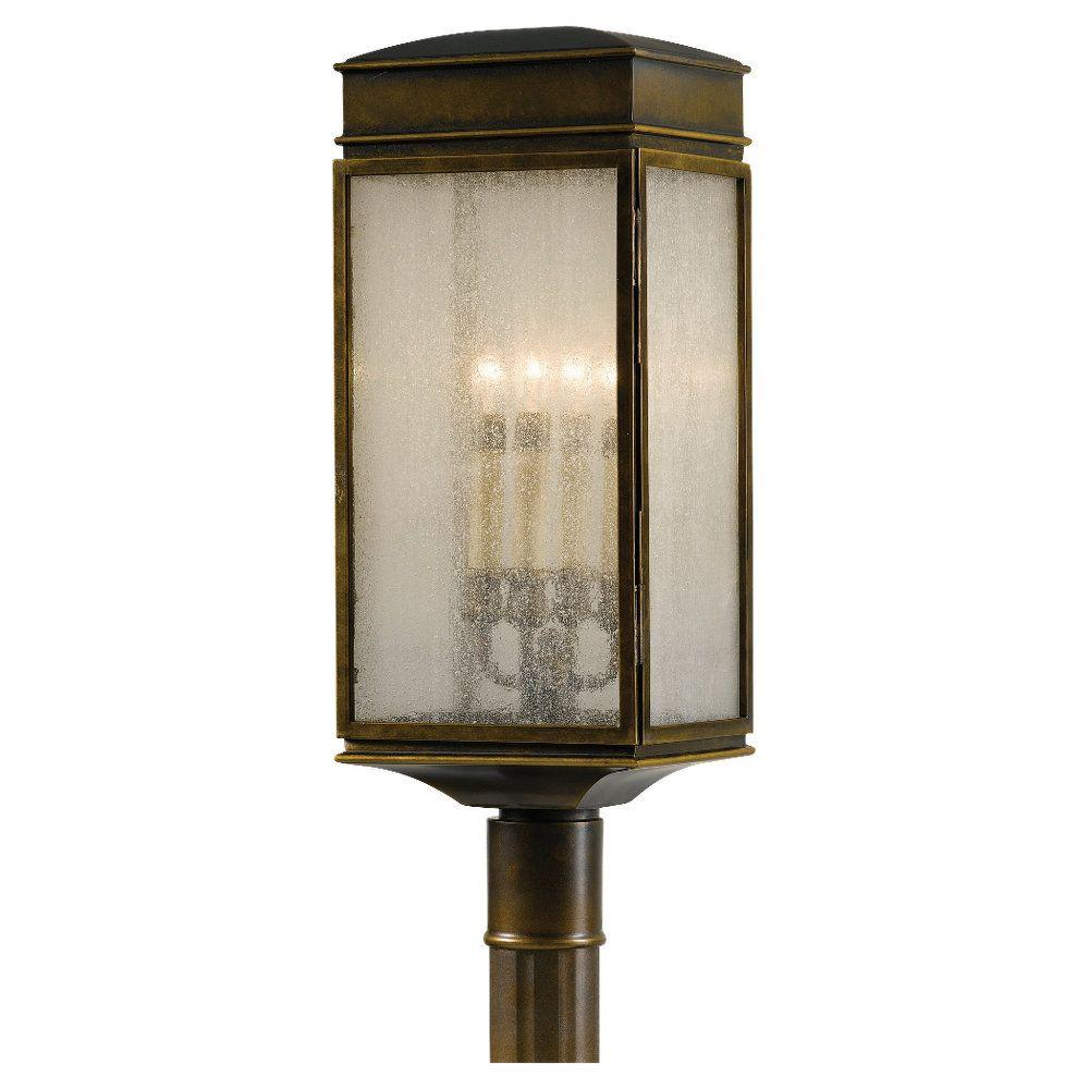 Baton Rouge Outdoor Pedestal Lantern By Feiss: Feiss Whitaker 4-Light Astral Bronze Outdoor Post Light