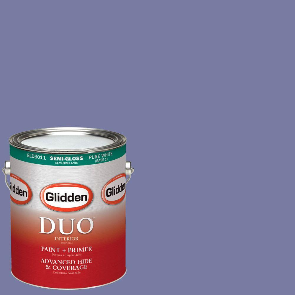Glidden DUO 1-gal. #HDGV41D Purple Twilight Semi-Gloss Latex Interior Paint with