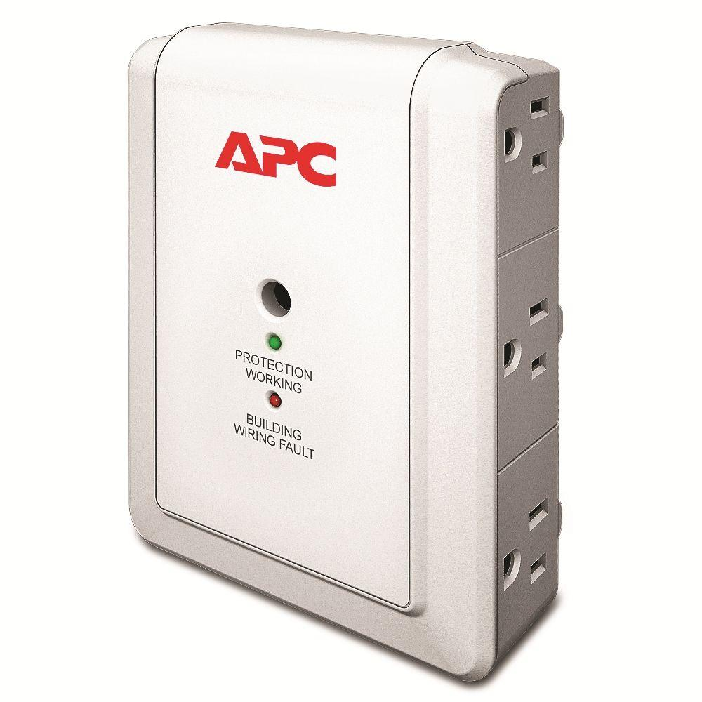 APC Essential SurgeArrest 6 Outlet Wall Mount with Phone Protection