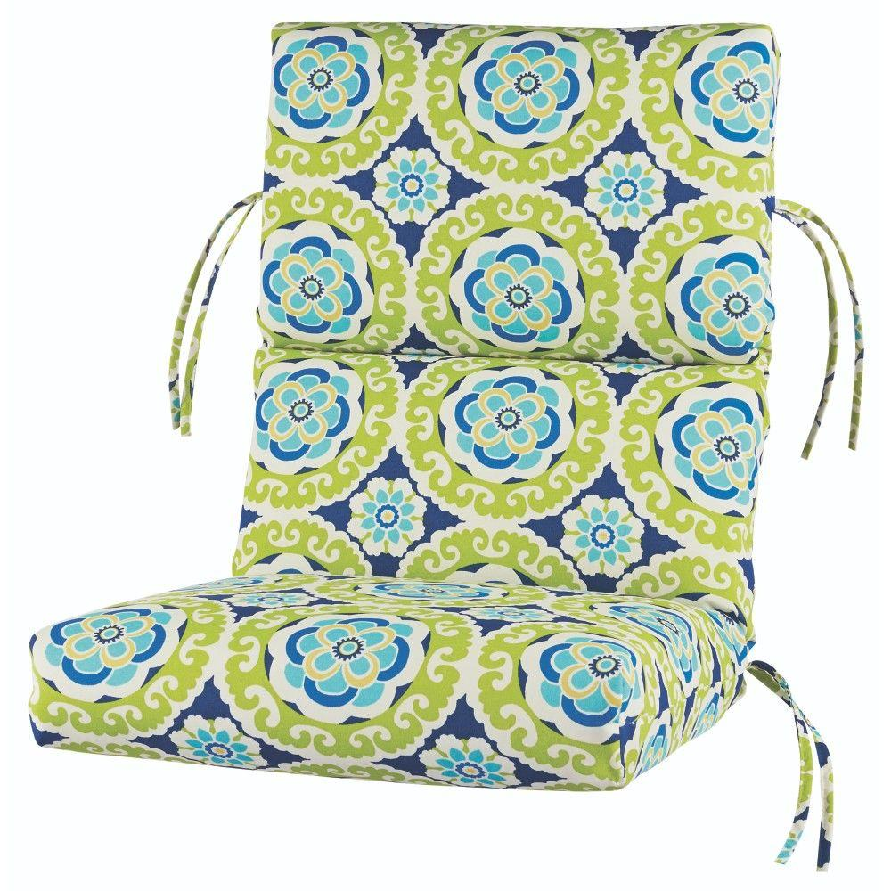Home Decorators Collection Halina Wasabi Outdoor Dining Chair Cushion-1573310990