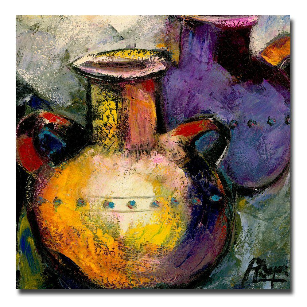 35 in. x 35 in.Still Life with Jugs II Canvas Art