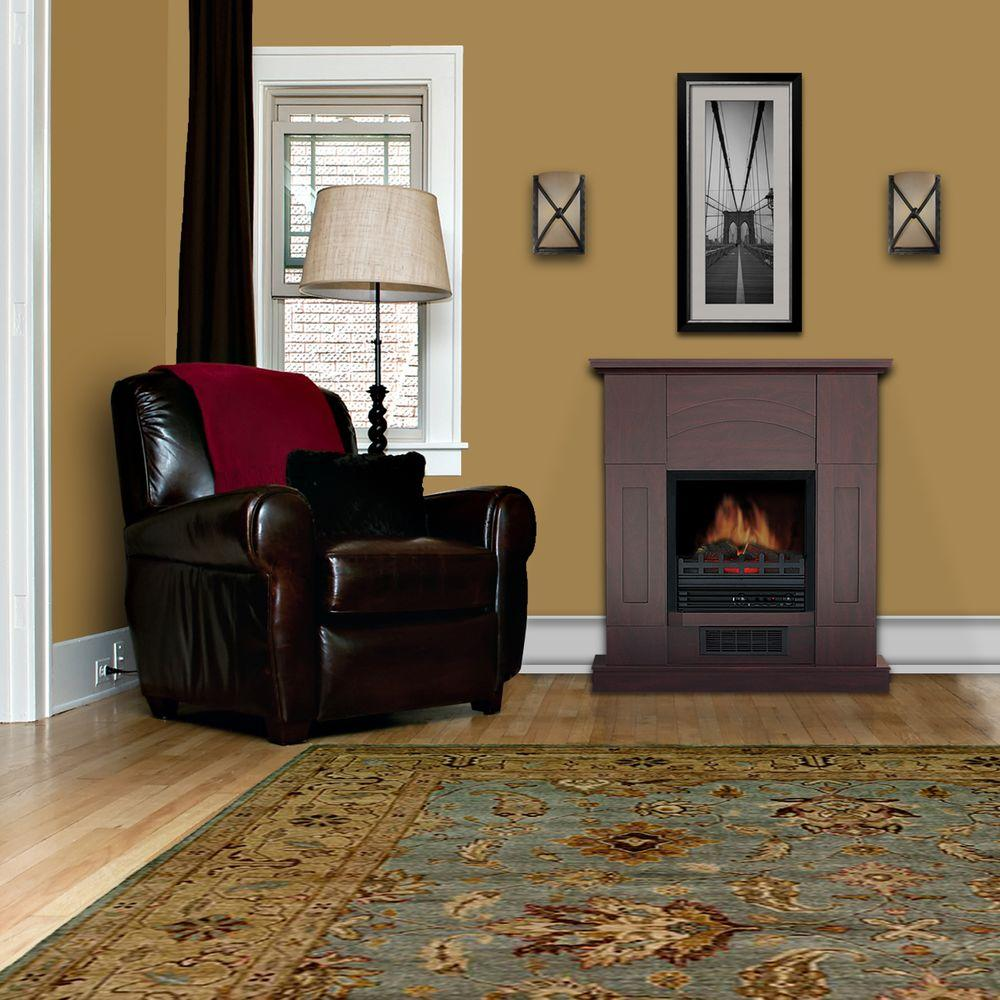 Quality Craft 36 in. Electric Fireplace in Dark Cherry