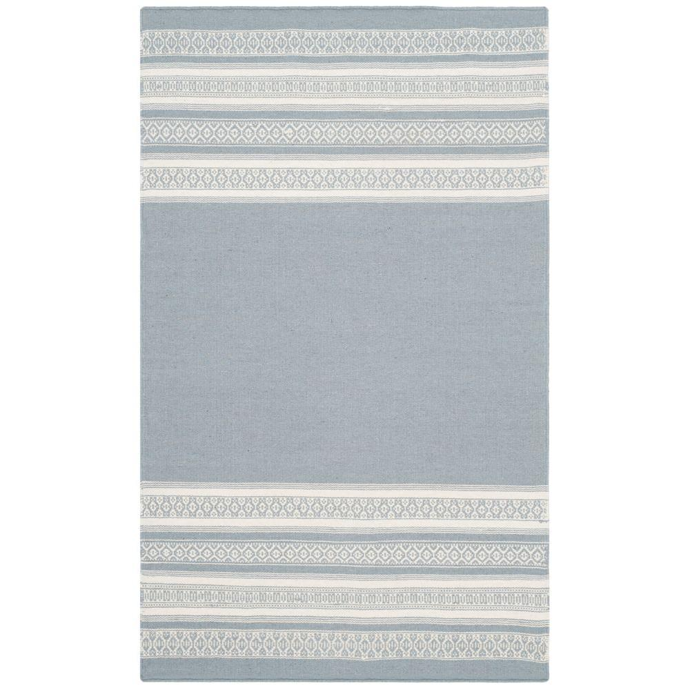 Dhurries Grey 3 ft. x 5 ft. Area Rug