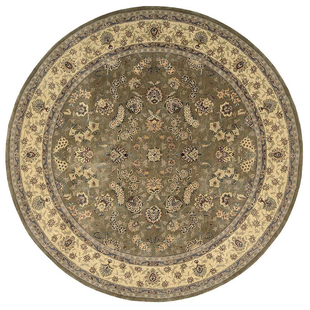 2000 Olive 8 ft. x 8 ft. Round Area Rug