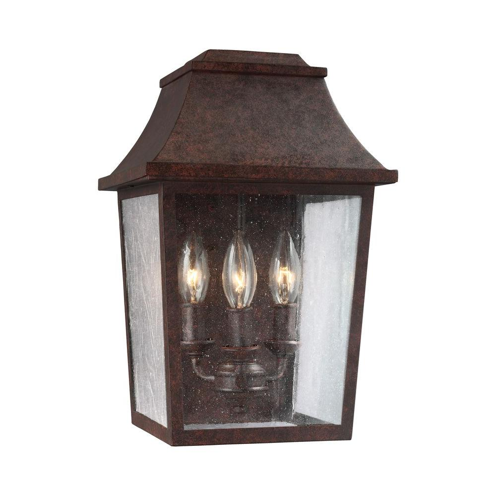 Estes 3-Light Patina Copper Outdoor Wall Fixture