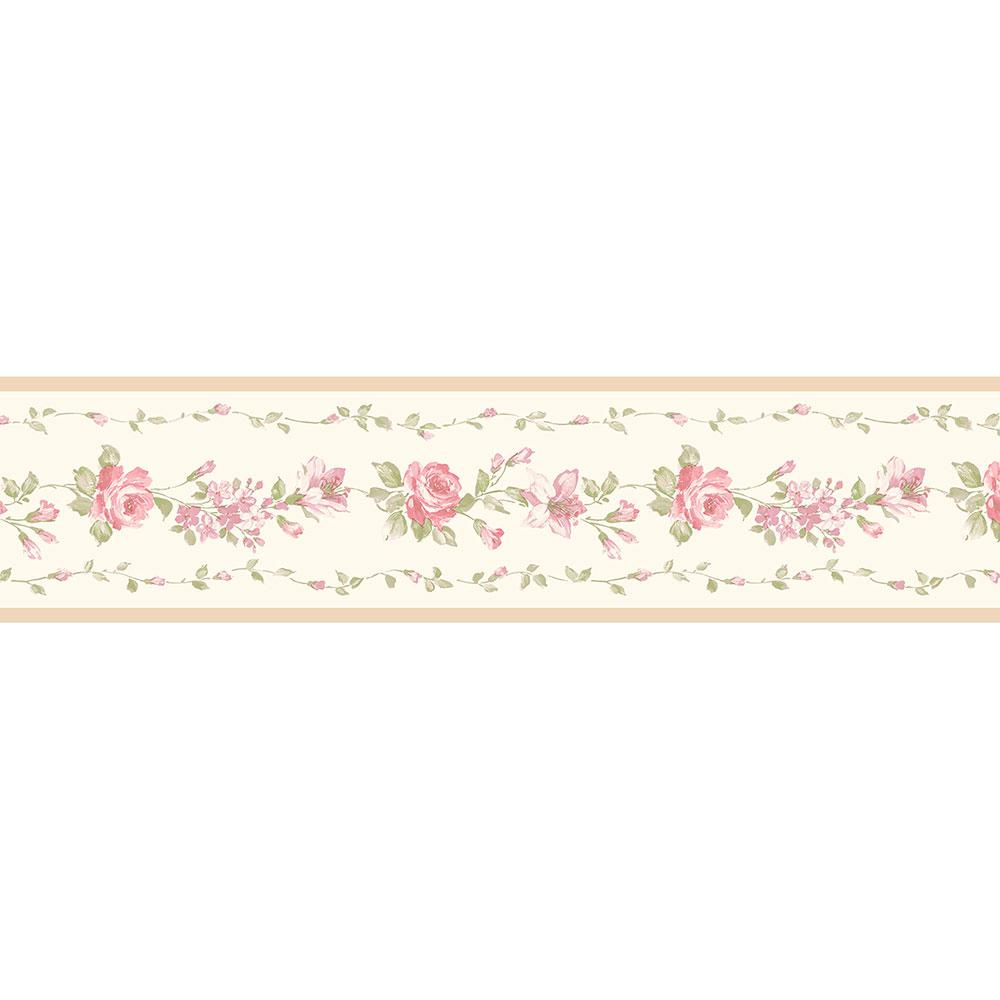 Norwall Red Rose Wallpaper Border Pp79471 The Home Depot