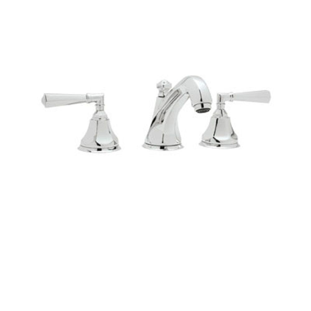 N Zehs rohl kitchen faucets Widespread 2 Handle Bathroom Faucet in Polished Chrome