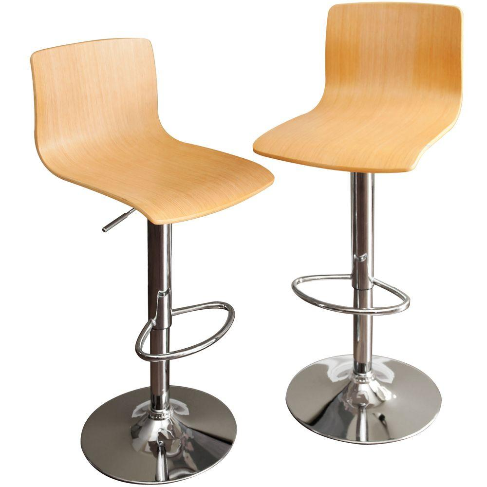 RST Living Melrose Maple Barstool (2-Pack)