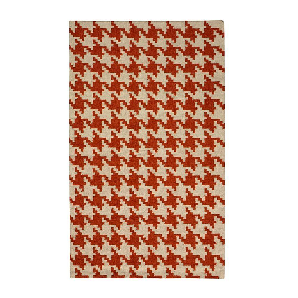 Home Decorators Collection Houndstooth Terra 2 ft. x 3 ft. Area Rug