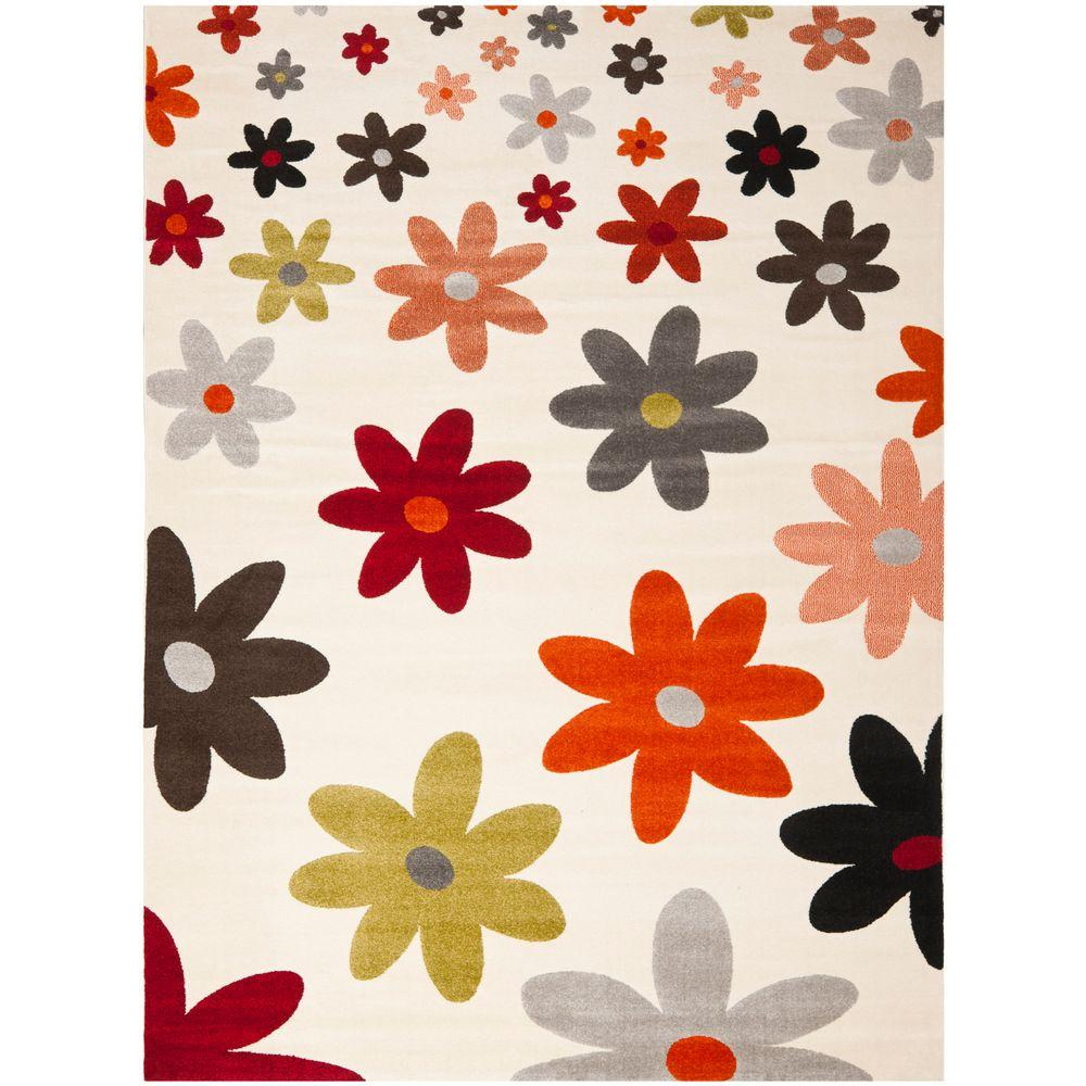 Porcello Ivory/Multi 8 ft. x 11 ft. 2 in. Area Rug
